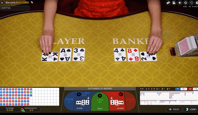 Baccarat online spielen