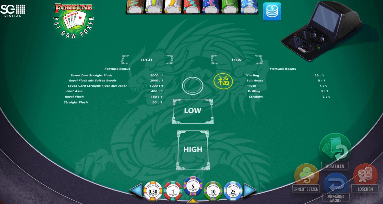 Pai Gow Poker Online spielen