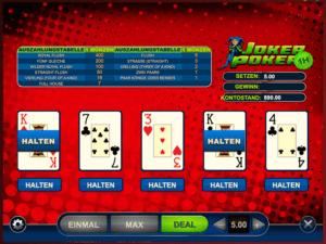 Video Poker online spielen