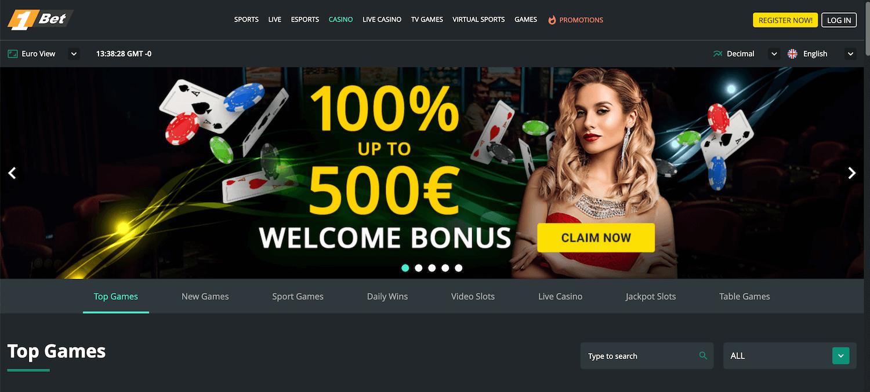 1Bet Casino Startseite