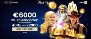 4 Crowns Casino Startseitenangebot