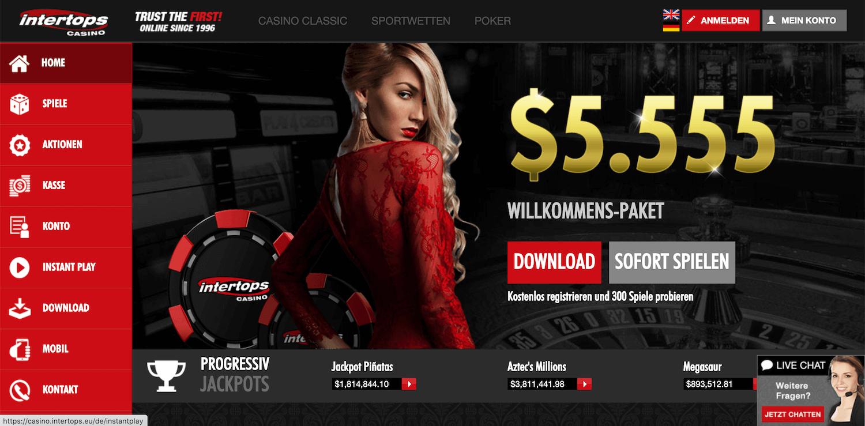 Intertops Casino Startseite