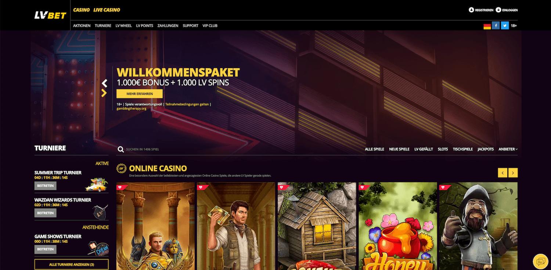 LVBet Casino Startseite