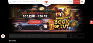 Startseite des N1 Casino