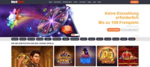 Startseite des NetBet Casinos