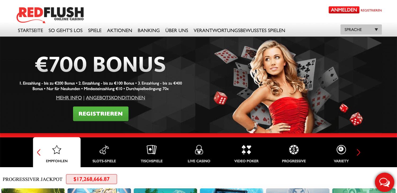 Redflush Casino Startseite