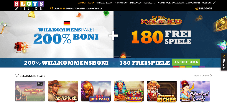 Slotsmillion Casino Startseite
