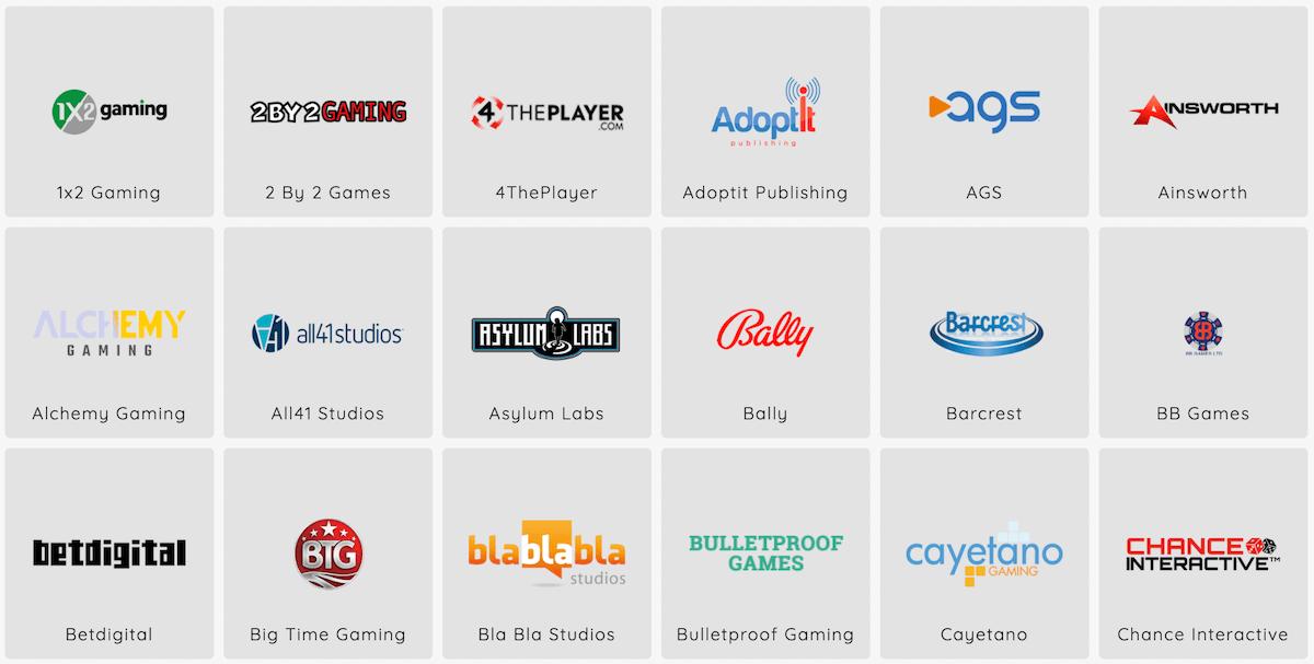 Spieleanbieter im Gate777 Casino