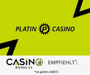 Casinobonus empfiehlt Platincasino
