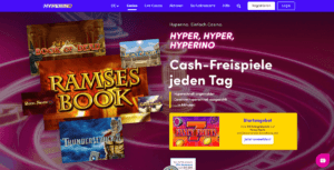 Startseite des Hyperino Casinos