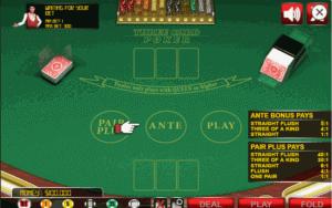 Three Card Poker Spielfeld