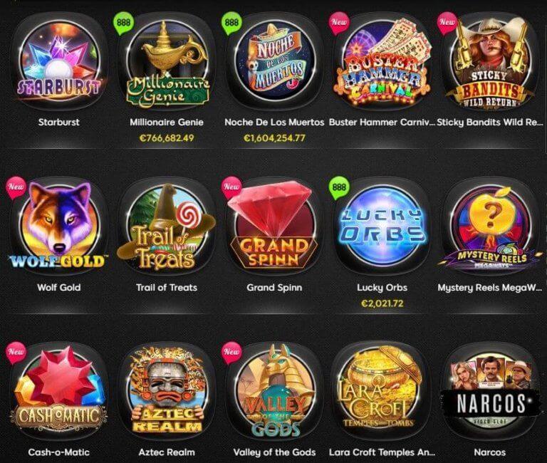 888 Casino Spielauswahl