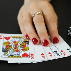 Hand beim Pokern