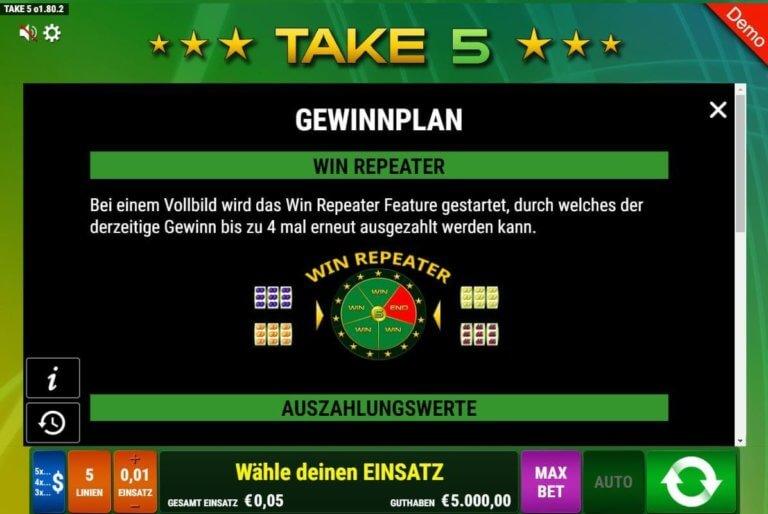 Take5 Regeln