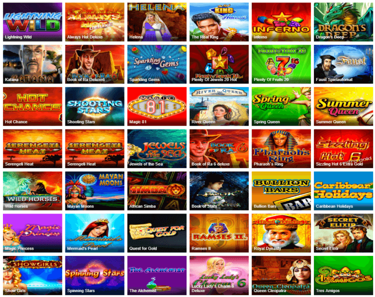 Ares Casino Spielauswahl