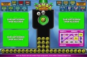 Bingo Spielfeld