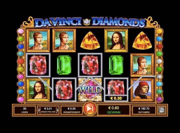 Davinci Diamonds Slot Win