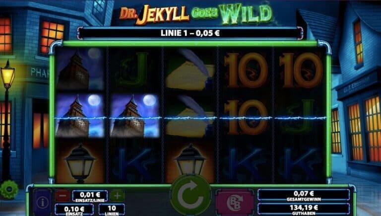 Dr Jekyll Goes Wild Slot Win