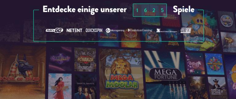 625 Spiele im Dunder Casino