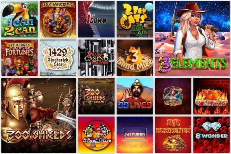 Gate777 Casino Spielauswahl