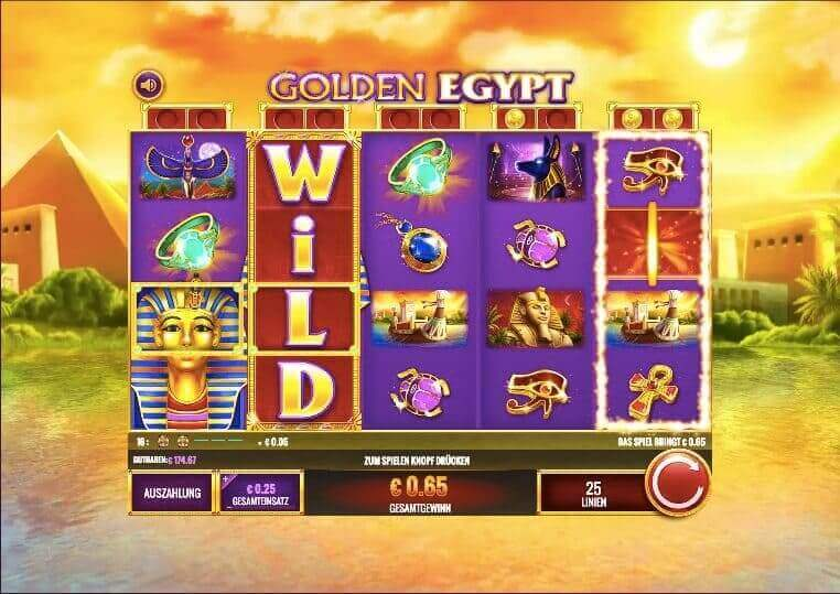 Golden Egypt Slot Win