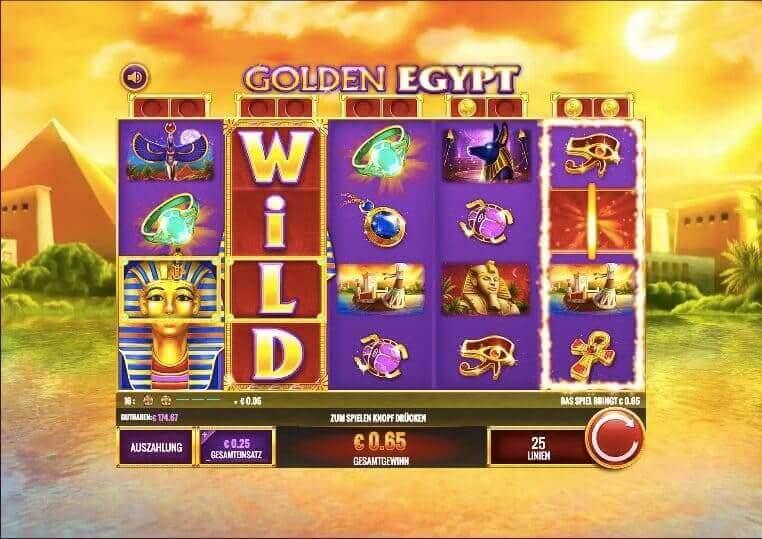 Golden Egypt Slot Win