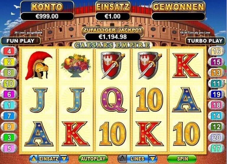 Golden Euro Casino Demospiel Caesars Empire