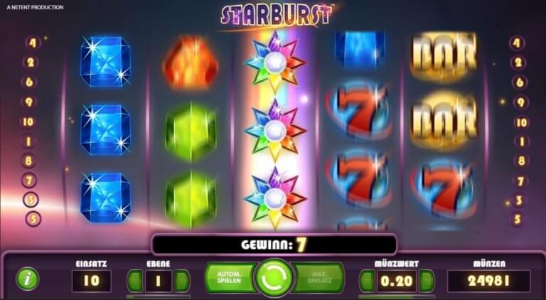 Demospiel Starburst
