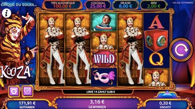 Kooza Slot Win