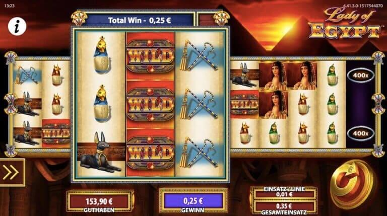 Lady of Egypt Slot Win