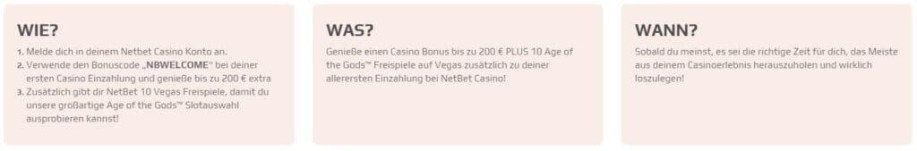 Netbet Bonus Code NBWELCOME