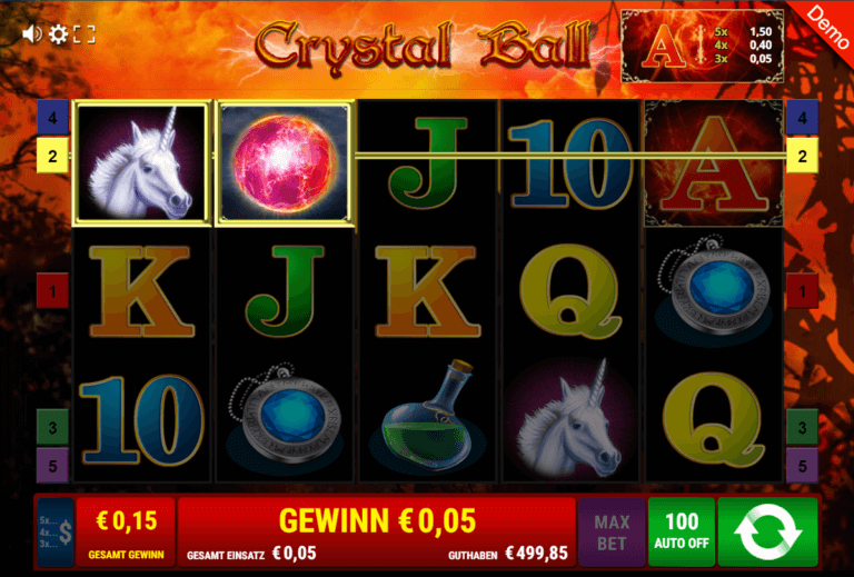 Platin Casino Demospiel Crystal Ball