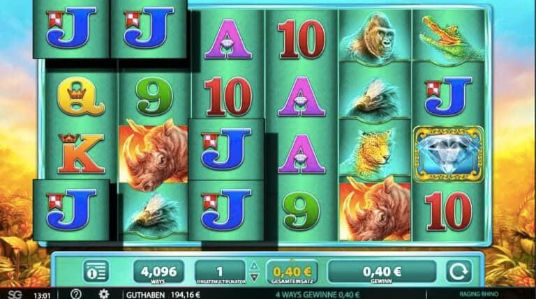 Raging Rhino Slot Win