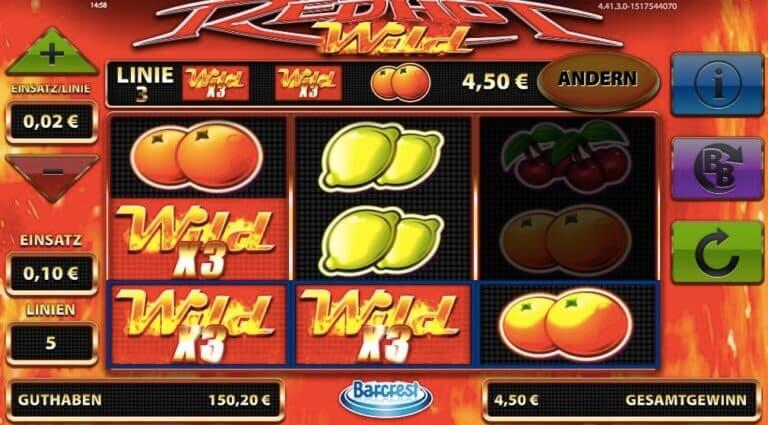 Red Hot Wild Slot Win
