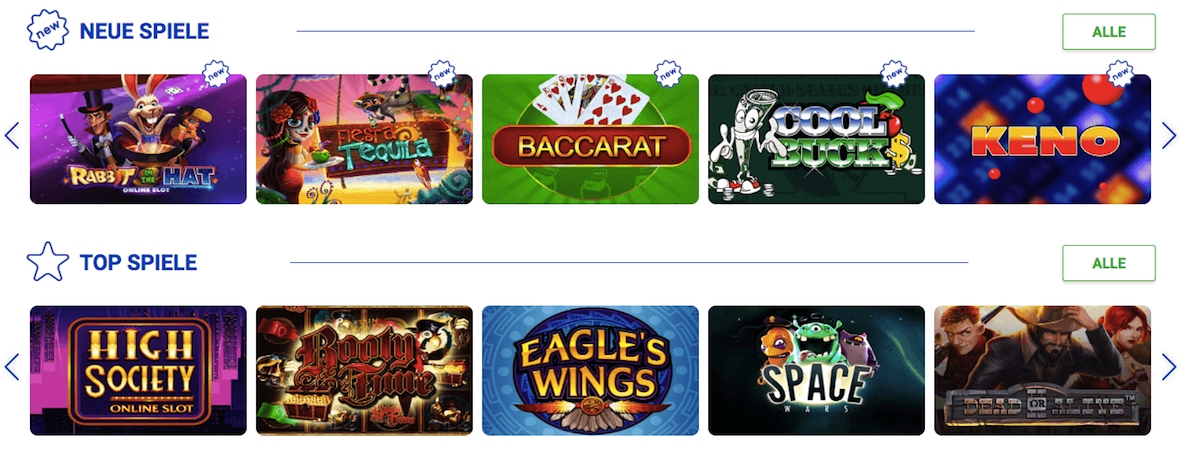 Slottica Spiele