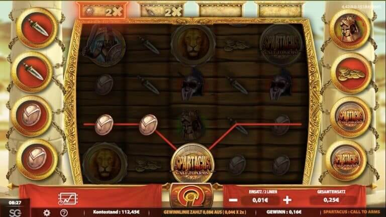 Spartacus Call To Arms Slot Win