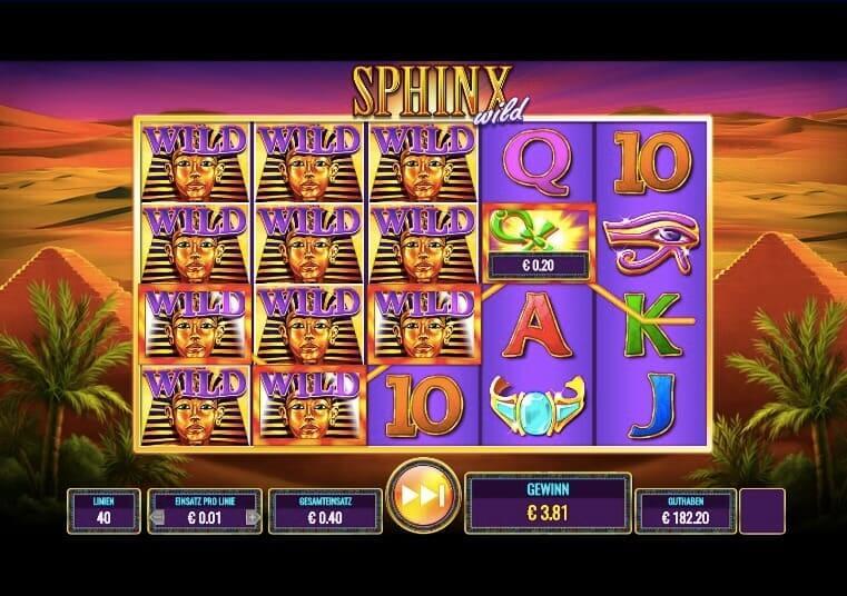 Sphinx Wild Slot Win