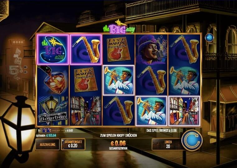 The Big Easy Slot Win