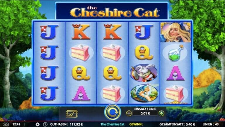 The Cheshire Cat Slot Paytable