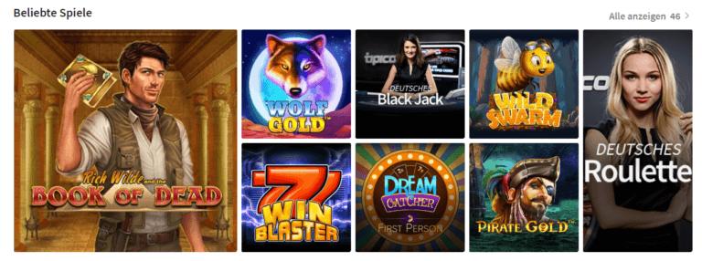 Beliebte Spiele auf Tipico Casino