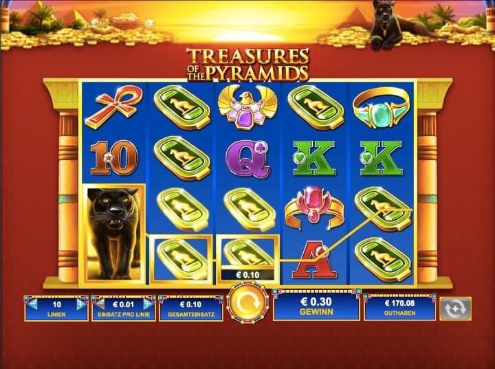 Treasures Of The Pyramids Slot Win