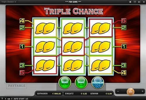 Triple Chance Slot Hintergrund