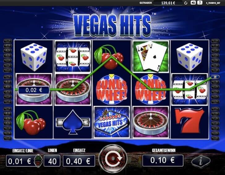 Vegas Hits Slot Win