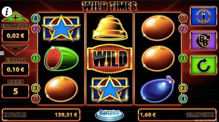 Wild Times Slot Win